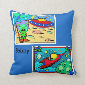 Aliens Pillow Boy's Room Personalize Nap Time Play