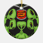 Aliens Probing Your Body Double-Sided Ceramic Round Christmas Ornament