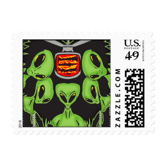 Aliens Probing Your Body Stamps