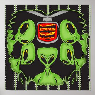 Aliens Probing Your Body Print
