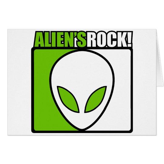 Aliens Rock! Card
