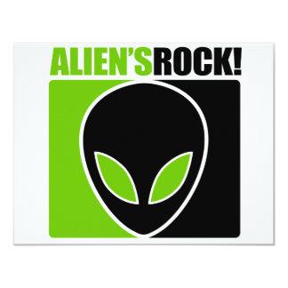 Aliens Rock! Custom Invite