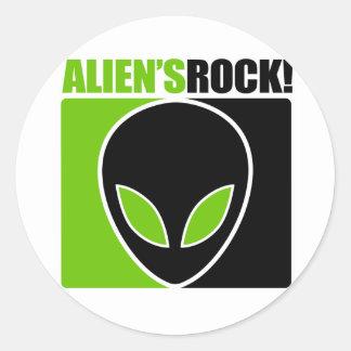 Aliens Rock! Sticker