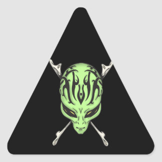 Aliens Rule Triangle Stickers