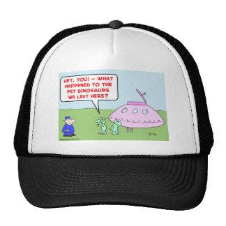 aliens saucer pets dinosaurs trucker hat
