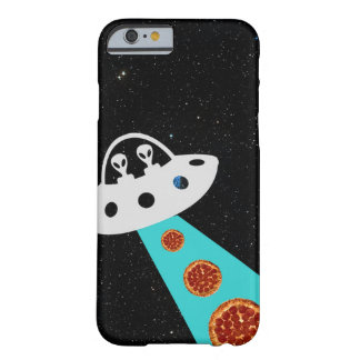 Aliens UFO Abducting Pizza Hipster Galaxy Barely There iPhone 6 Case