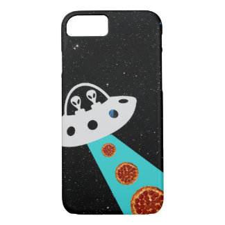 Aliens UFO Abducting Pizza Hipster Galaxy iPhone 8/7 Case