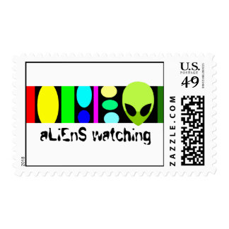 aLiEnS WATCHING! Postage Stamps