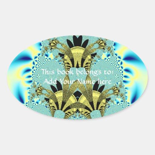 Aliens Wedding Cake Fractal Oval Sticker