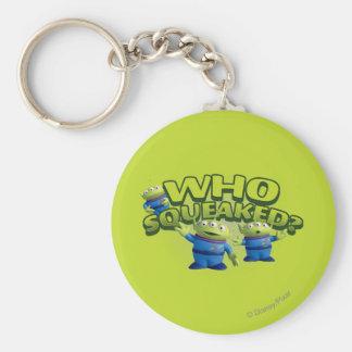 Aliens: Who Squeaked Basic Round Button Keychain