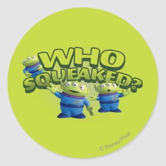 Aliens: Who Squeaked Classic Round Sticker