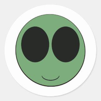 aliensmiley etiquetas redondas