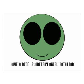 aliensmiley postcard