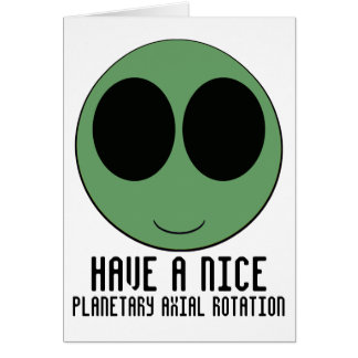aliensmiley tarjeta