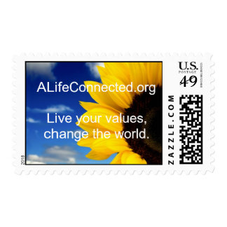 ALifeConnected. Live your values, change the world Postage Stamp