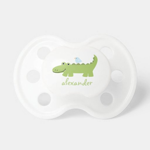 Aligator and Bird Baby Pacifiers