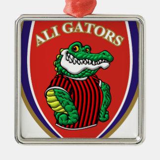 Aligator Metal Ornament