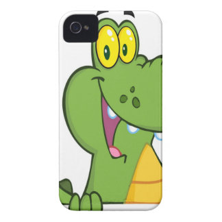 Aligator Or Crocodile Over A Sign iPhone 4 Covers