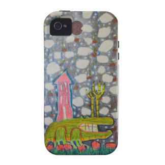 Aligator With Six Legs iPhone 4/4S Case