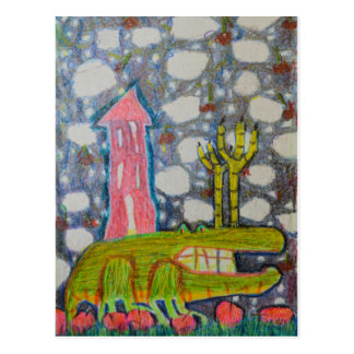 Aligator With Six Legs Postcard