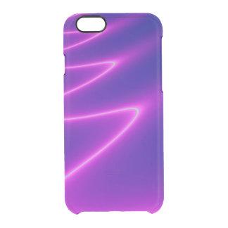 Aligeramiento del rosa impactante funda clearly™ deflector para iPhone 6 de uncommon