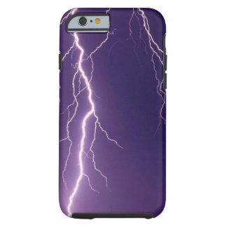 Aligeramiento púrpura funda de iPhone 6 tough
