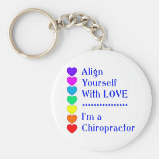 Align Yourself With Love - I'm a Chiropractor! Keychain
