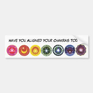 aligned chakras Bumper Sticker