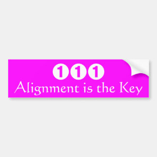 Alignment is the Key Bumper Sticker
