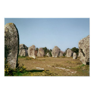 Alignment of standing stones Megalithic Print