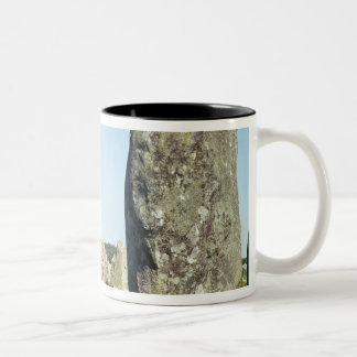Alignment of standing stones, Megalithic Two-Tone Coffee Mug