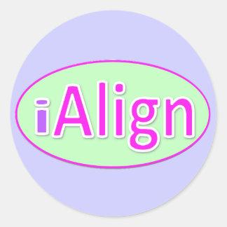 Alignment sticker