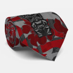 Ali'i Refuge Tiki Hibiscus Two-sided Printed Neck Tie