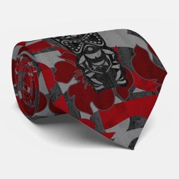 DriveIndustries Ali'i Refuge Tiki Hibiscus Two-sidedPrinted Neck Tie
