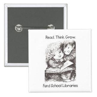 Aliki - Fund School Libraries - Square - Kids Pinback Button