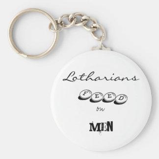 Alimentación de Lotharians en hombres Llavero Redondo Tipo Pin