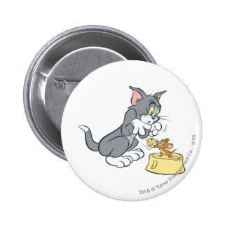 Alimentación de Tom y Jerry el gato Pin Redondo 5 Cm