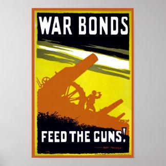 Alimentación del ~ de los enlaces de guerra los ar póster