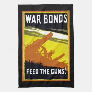 Alimentación del ~ de los enlaces de guerra los toalla de mano