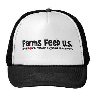 Alimentación los E.E.U.U. de las granjas Gorros