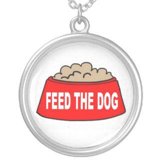 Alimentación roja del cuenco de la comida de perro colgante redondo