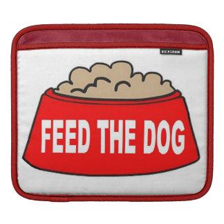 Alimentación roja del cuenco de la comida de perro fundas para iPads