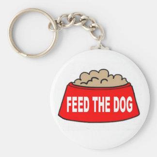 Alimentación roja del cuenco de la comida de perro llavero redondo tipo pin