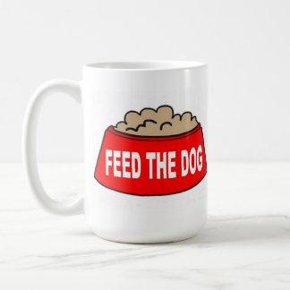Alimentación roja del cuenco de la comida de perro taza
