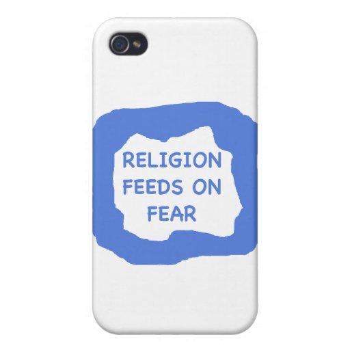 Alimentaciones de la religión en el miedo .png iPhone 4 cárcasa