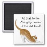 Alimentador del imán de la comida para gatos