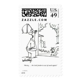 Alimentador vacío 2 del pájaro timbres postales