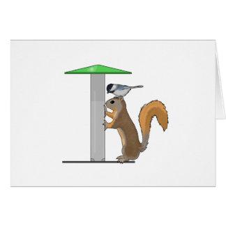 Alimentador vacío del pájaro tarjeta de felicitación