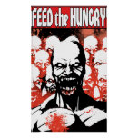 Alimente el colosal hambriento posters