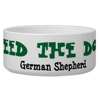 Alimente el cuenco del perro - pastor alemán comedero para mascota